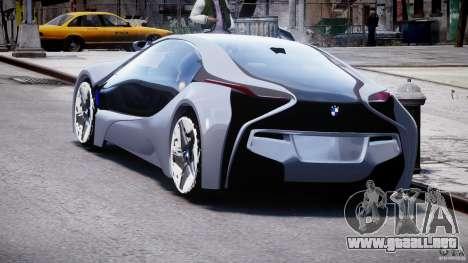 BMW Vision Efficient Dynamics v1.1 para GTA 4 Vista posterior izquierda