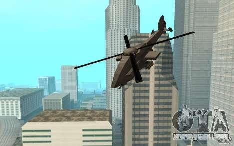 MQ Drone from BO2 para GTA San Andreas vista posterior izquierda