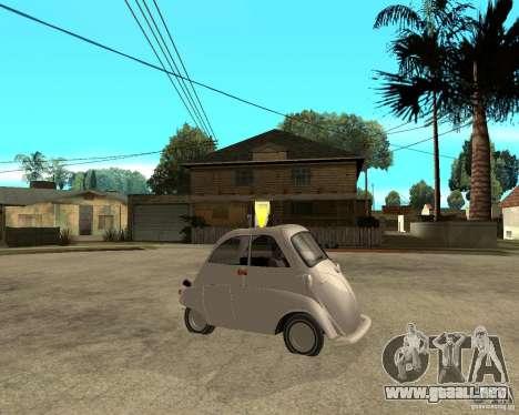 BMW Isetta para la visión correcta GTA San Andreas