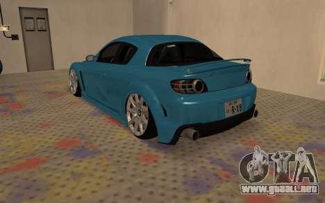 Mazda RX8 VIP para GTA San Andreas vista posterior izquierda