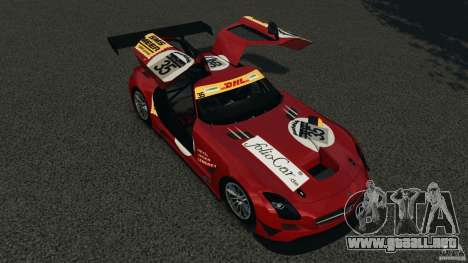 Mercedes-Benz SLS AMG GT3 2011 v1.0 para GTA 4 vista desde abajo