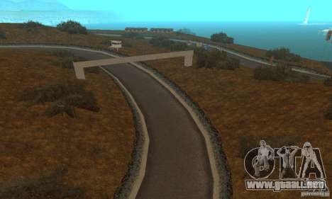 La ruta de NFS Prostreet para GTA San Andreas sexta pantalla