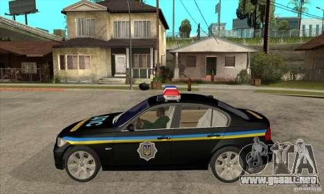 BMW 3 Series DPS para GTA San Andreas left