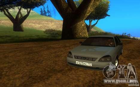 VAZ Lada Priora 2170 para GTA San Andreas vista posterior izquierda