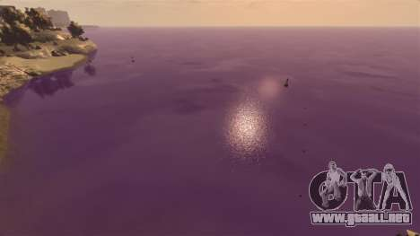 El color púrpura del agua para GTA 4 tercera pantalla