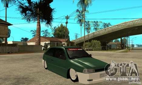 Volkswagen Gol v1 para GTA San Andreas vista hacia atrás