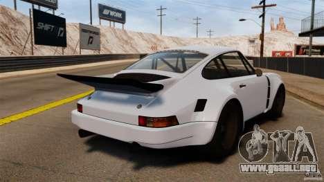 Porsche 911 Carrera RSR 3.0 Coupe 1974 para GTA 4 Vista posterior izquierda