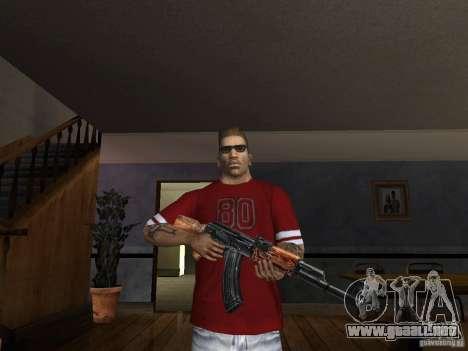 AK HD para GTA San Andreas tercera pantalla