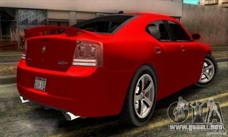 Dodge Charger SRT8 para GTA San Andreas vista posterior izquierda