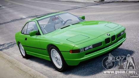 BMW 850i E31 1989-1994 para GTA 4 vista desde abajo