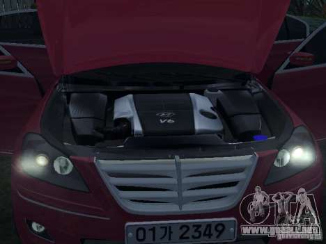 Hyundai Genesis para vista lateral GTA San Andreas