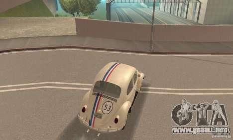 Volkswagen Beetle 1963 para la vista superior GTA San Andreas