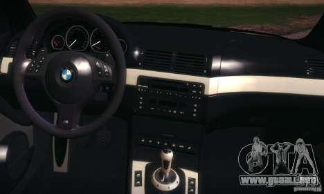 BMW M3 para la vista superior GTA San Andreas