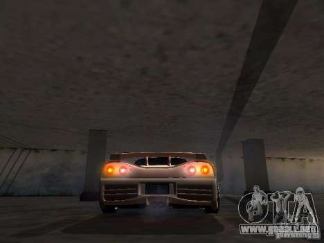 Honda NSX Veilside para GTA San Andreas vista hacia atrás