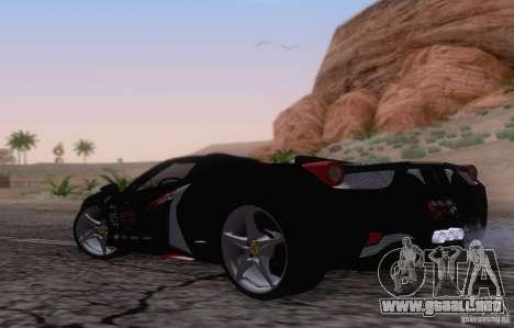 Ferrari F458 para la visión correcta GTA San Andreas