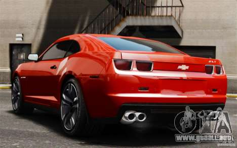 Chevrolet Camaro ZL1 v1.0 para GTA 4 vista hacia atrás