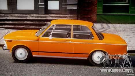 BMW 2002 1972 para GTA 4 Vista posterior izquierda