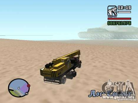 KrAZ-250 MKAT-40 para vista lateral GTA San Andreas