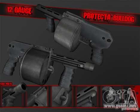 Protecta Bulldog para GTA San Andreas segunda pantalla