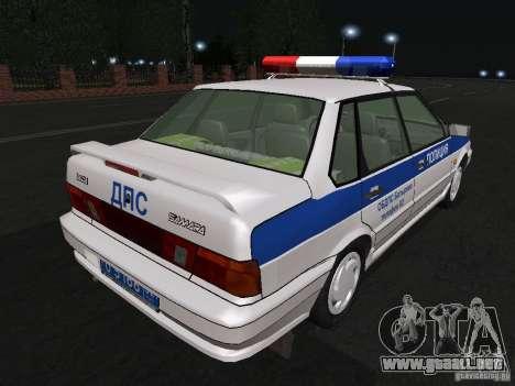 VAZ 2115 policía DPS para la visión correcta GTA San Andreas