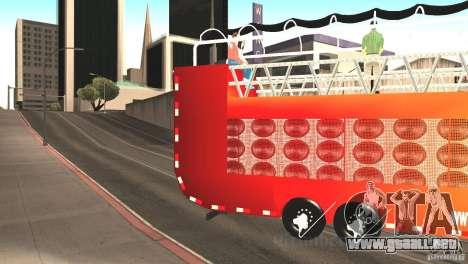 Scania 93H 6x2 Trio Eletrico para GTA San Andreas left