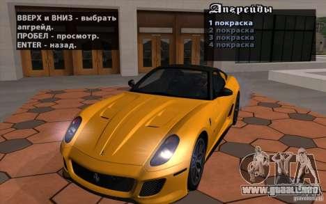 Mobile TransFender para GTA San Andreas segunda pantalla