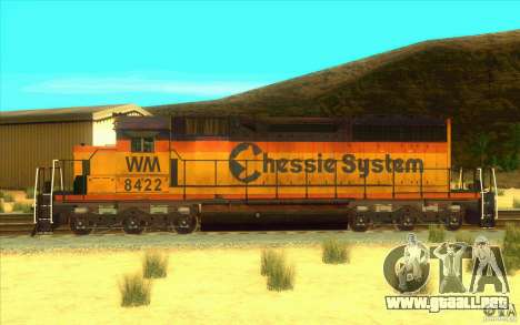 Chessie System sd40-2 para GTA San Andreas left