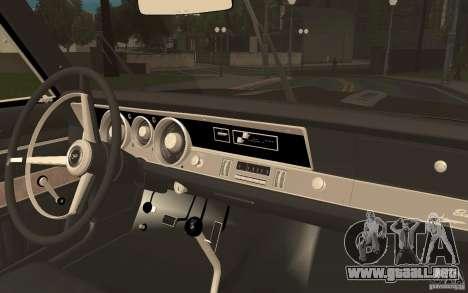 Plymouth Barracuda Formula S para GTA San Andreas vista hacia atrás