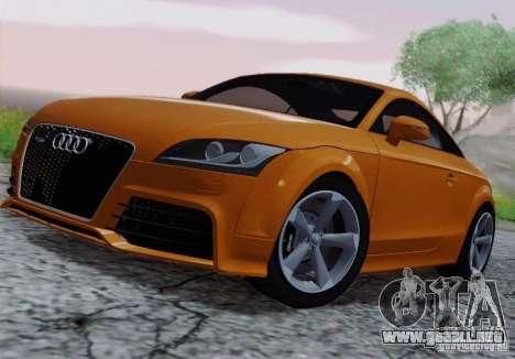 Audi TT-RS Coupe para GTA San Andreas vista hacia atrás