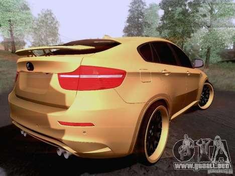 BMW X6M Hamann para la visión correcta GTA San Andreas