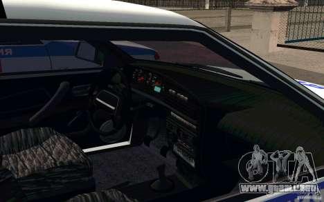 Vaz 2114 PSB policía para GTA San Andreas vista hacia atrás