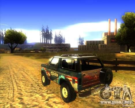 Blazer XL FlatOut2 para la visión correcta GTA San Andreas