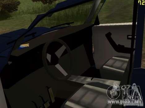 Moskvich andrajosos para GTA San Andreas vista hacia atrás