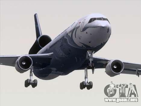 McDonnell Douglas MD-11 Garuda Indonesia para GTA San Andreas vista posterior izquierda