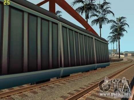 Vagón de carga de los surfistas del metro para GTA San Andreas left