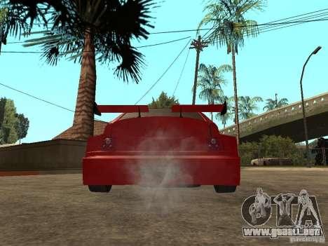 Diablo rojo VAZ-2112 para GTA San Andreas vista posterior izquierda