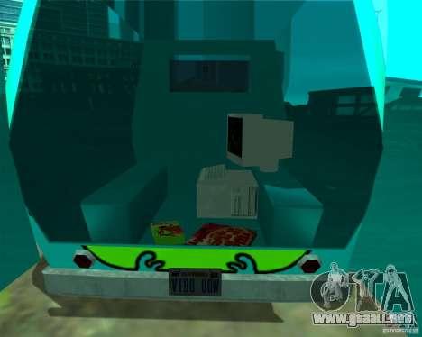 Mystery Machine para GTA San Andreas vista hacia atrás