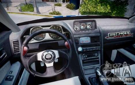 Nissan Skyline GT-R R34 2F2F para GTA 4 vista hacia atrás