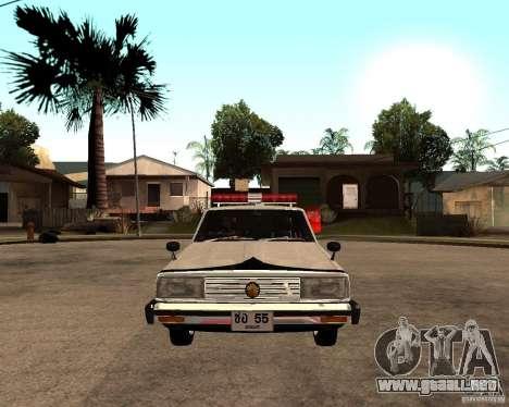 Nissan Skyline 2000 GT Police para la visión correcta GTA San Andreas