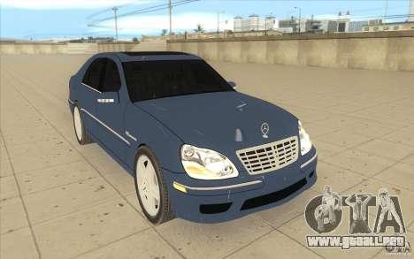 Mercedes-Benz S-Klasse para GTA San Andreas vista hacia atrás
