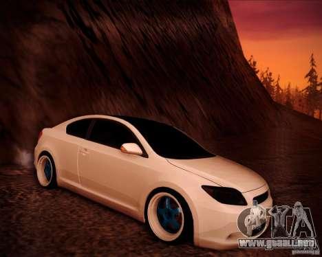 Scion tC Blue Meisters para GTA San Andreas interior