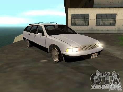 Chevrolet Caprice Wagon 1992 para GTA San Andreas vista posterior izquierda