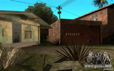 S.T.A.L.K.E.R House para GTA San Andreas segunda pantalla