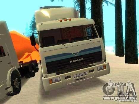 KAMAZ 54115 para la visión correcta GTA San Andreas