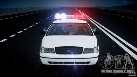 Ford Crown Victoria FBI Police 2003 para GTA 4 ruedas