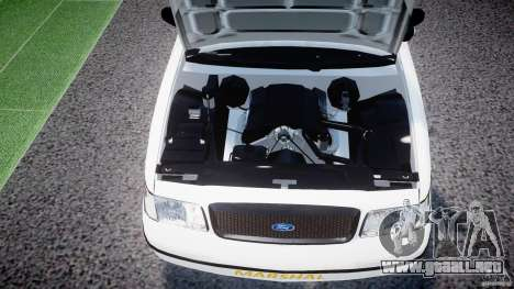 Ford Crown Victoria US Marshal [ELS] para GTA 4 vista interior
