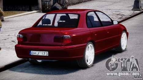 Opel Omega 1996 V2.0 First Public para GTA 4 vista lateral