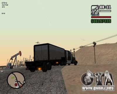 Turn Indicators 2.0 para GTA San Andreas segunda pantalla