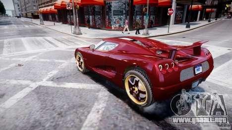 Koenigsegg CCRT para GTA 4 left