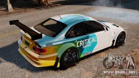 BMW M3 GTR MW 2012 para GTA 4 left